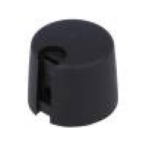 Knoflík s ukazatelem plast Pr.hříd:4mm Ø20x16mm černá