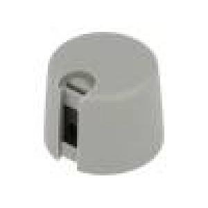 Knoflík s ukazatelem plast Pr.hříd:6mm Ø20x16mm šedá