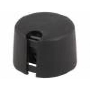Knoflík s ukazatelem plast Pr.hříd:6mm Ø20x16mm černá