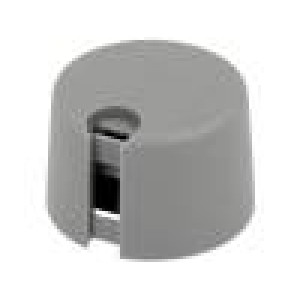Knoflík s ukazatelem plast Pr.hříd:6mm Ø24x16mm šedá