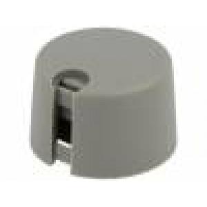 Knoflík s ukazatelem plast Pr.hříd:4mm Ø31x16mm šedá