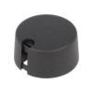 Knoflík s ukazatelem plast Pr.hříd:6mm Ø31x16mm černá