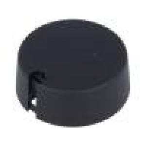 Knoflík s ukazatelem plast Pr.hříd:6mm Ø40x16mm černá