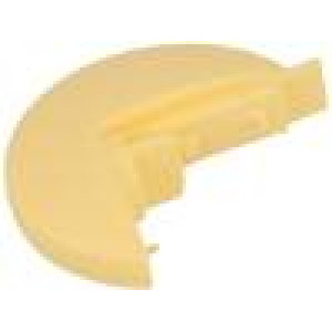 Pointer plastic material yellow push-in Shape: disk