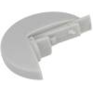 Pointer plastic material grey push-in Shape: disk