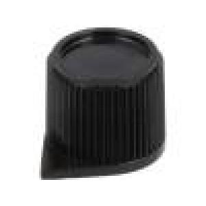 Knoflík s ukazatelem termoplast Pr.hříd:6mm Ø15,4x13,2mm