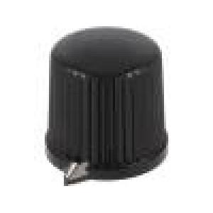 Knoflík s ukazatelem termoplast Pr.hříd:6mm Ø20,7x19,7mm