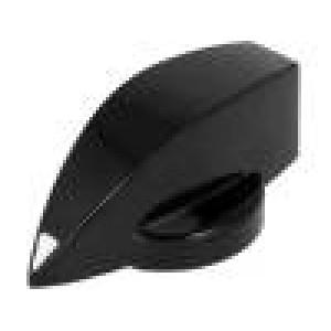 Knoflík s ukazatelem termoplast Pr.hříd:6mm Ø23x16mm černá