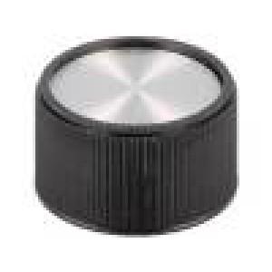 Knoflík bez ukazatele termoplast Pr.hříd:6mm Ø28x16mm černá