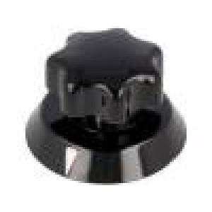 Knoflík s ukazatelem termoplast Pr.hříd:6mm Ø31x25mm černá