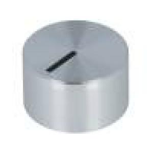 Knoflík s ukazatelem hliník, plast Pr.hříd:6mm Ø12x7,1mm