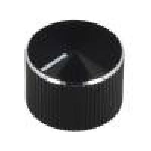 Knoflík s ukazatelem hliník, plast Pr.hříd:6mm Ø18,6x12mm