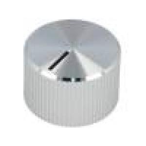 Knoflík s ukazatelem hliník, plast Pr.hříd:6mm Ø18,7x12mm