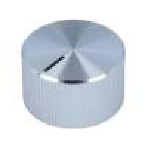 Knoflík s ukazatelem hliník, plast Pr.hříd:6mm Ø22,7x13,1mm