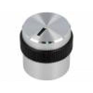 Knoflík s ukazatelem hliník, plast Pr.hříd:6mm Ø22,1x14,3mm