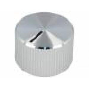 Knoflík s ukazatelem hliník, plast Pr.hříd:6mm Ø32,8x14,4mm