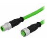 Cable for sensors/automation M12-M12 10m male female PIN:4
