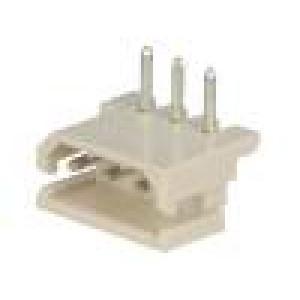 Zásuvka kabel-pl.spoj vidlice 3 PIN 2,5mm THT SPOX 3A 20mΩ