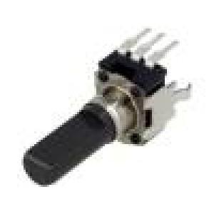 Potenciometr axiální jednootáčkový, stojatý 10kΩ ±20% 6mm
