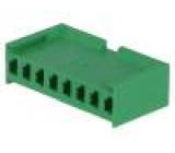 Zástrčka kabel-pl.spoj zásuvka PIN:8 bez kontaktů 3,96mm