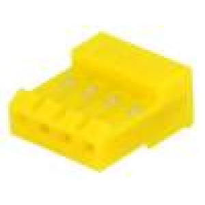 Zástrčka kabel-pl.spoj zásuvka 4 PIN 3,96mm IDC na kabel