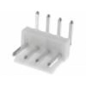 Zásuvka kabel-pl.spoj vidlice 4 PIN 3,96mm THT VH 250V 10A