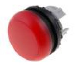 Kontrolka 22mm Podsv: M22-LED plochá IP67 barva červená