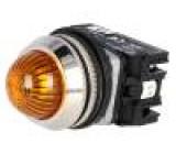 Kontrolka 30mm LED, žárovka IP20 24VAC -15÷30°C Ø30,5mm 24VDC