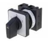 Přepínač vačkový 3 polohy 20A 1-0-2 montáž k vestavbě 6,5kW