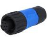 Konektor kulatý zástrčka s kabelovou objímkou zásuvka PIN:7