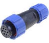 Konektor kulatý zástrčka SP13 zásuvka PIN:7 IP68 125V pájení