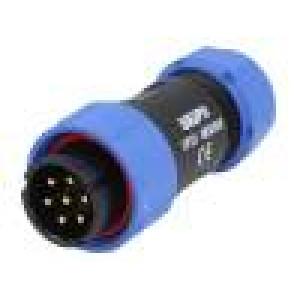 Konektor kulatý zástrčka SP21 vidlice PIN:7 IP68 500V pájení