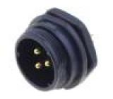 Konektor kulatý zásuvka SP21 vidlice PIN:3 IP68 500V pájení