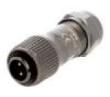 Konektor kulatý zástrčka ST12 vidlice PIN:2 IP67 250V pájení