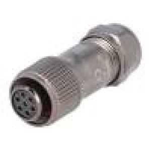 Konektor kulatý zástrčka ST12 zásuvka PIN:7 IP67 125V pájení