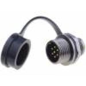 Konektor kulatý zásuvka ST12 vidlice PIN:7 IP67 125V pájení