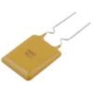 Pojistka polymerová PTC 2,5A 11,4x18,3mm Rozteč:5mm