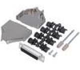 Zástrčka D-Sub PIN:25 zásuvka lisované kontakty přímý pájení