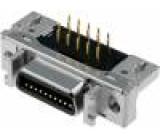 Konektor MDR PIN:20 stíněný Zajištění: zacvaknutí do panelu