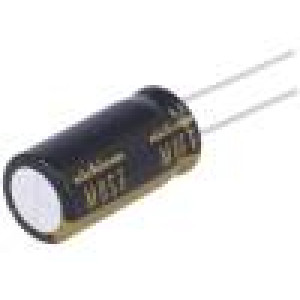 Kondenzátor elektrolytický THT 47uF 25V Ø10x12,5mm ±20% 0,12