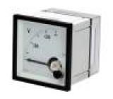 Panelové měřidlo 0÷500V Třída přesností:1,5 Montáž: DIN IP52