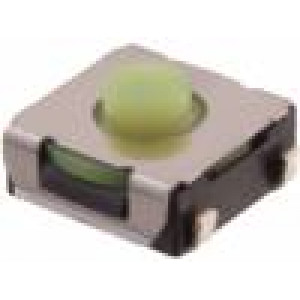 Mikrospínač 1-polohové SPST-NO 0,05A/12VDC SMT 1,96N 3,4mm