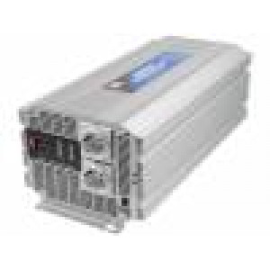 Měnič napětí 12V DC/AC 2500W Uvýst:230VAC Výv: síťové 230 V