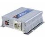Měnič napětí 12V DC/AC 600W Uvýst:230VAC Výv: síťové 230 V