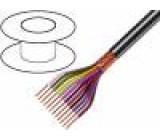 Kabel 16x0,25mm2 PVC FirestoP® černá 49V