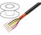 Kabel 5x0,25mm2 PVC FirestoP® černá 49V
