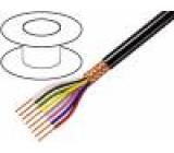 Kabel 8x0,25mm2 PVC FirestoP® černá 49V