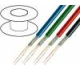 Kabel: mikrofonní 2x0,35mm2 OFC PUR -40÷80°C Ø6mm černá 100m
