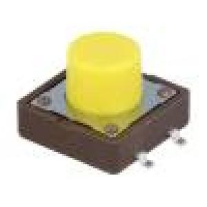 Mikrospínač 1-polohové SPST-NO 0,05A/12VDC SMT 5,2N 12x12mm
