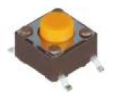 Mikrospínač 1-polohové SPST-NO 0,05A/12VDC SMT 3,2N 5mm 77ks